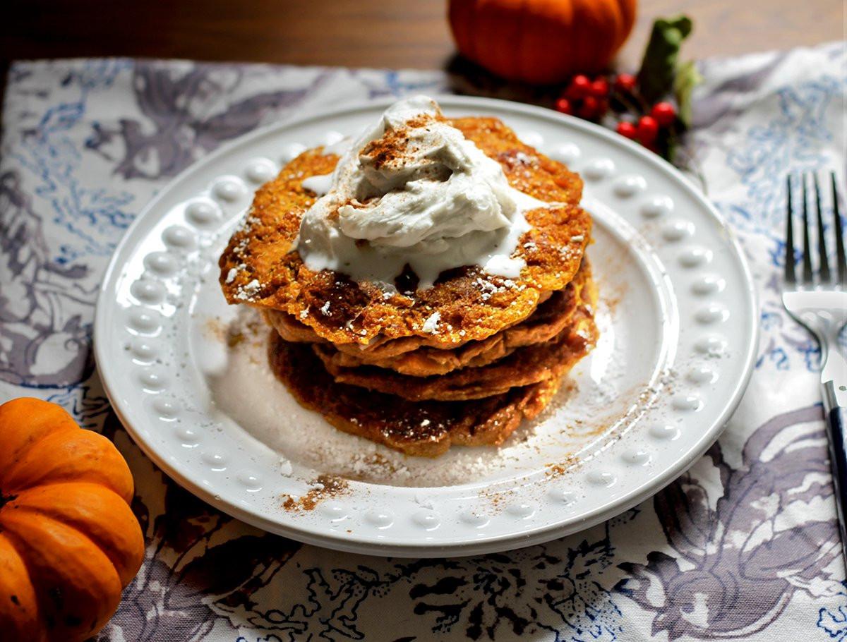 Healthy Vegan Pancakes  Healthy Breakfast Perfectly Pumpkin Vegan Pancake Recipe