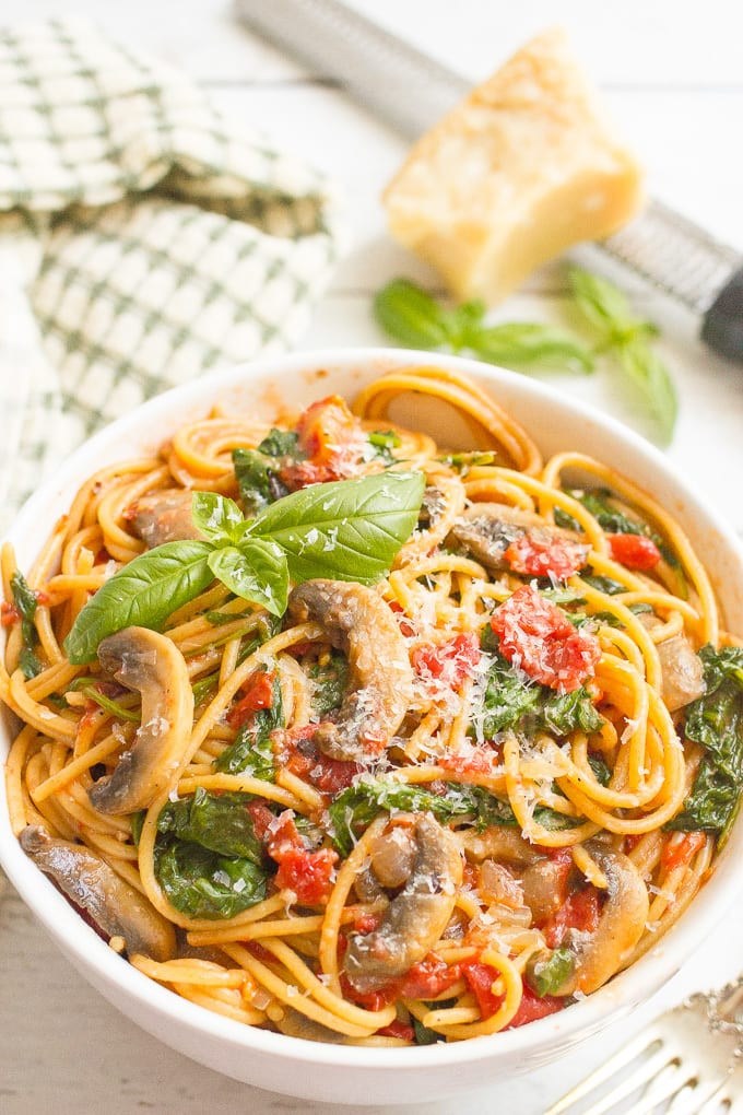 Healthy Vegan Pasta Recipes  e pot ve arian spaghetti and a giveaway  Family