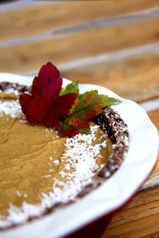 Healthy Vegan Pumpkin Pie  Raw Vegan Pumpkin Pie Recipe