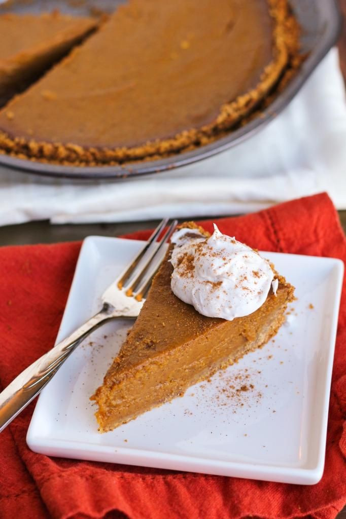 Healthy Vegan Pumpkin Pie  Healthy vegan pumpkin pie