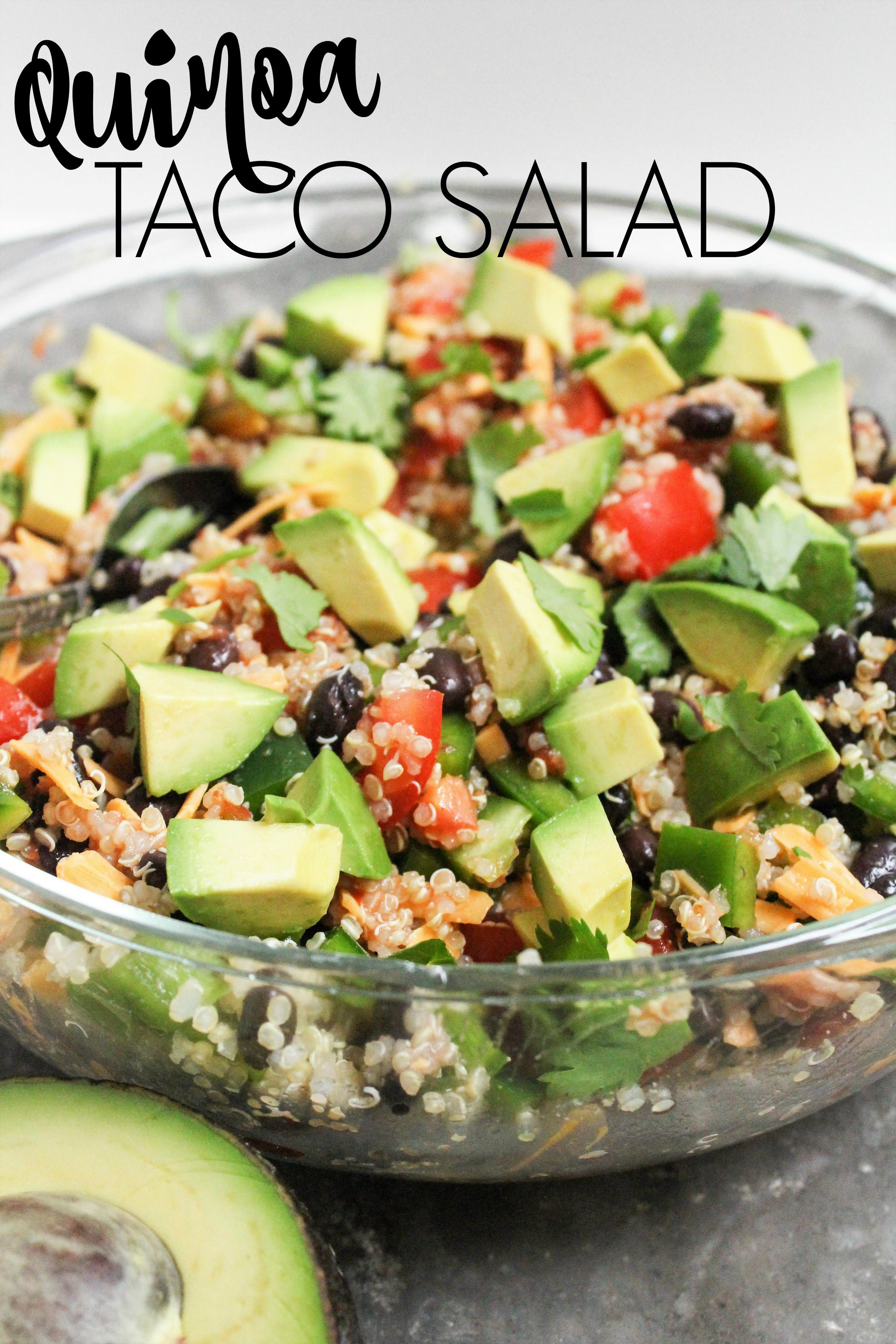 Healthy Vegan Salads  Quinoa Taco Salad fANNEtastic food