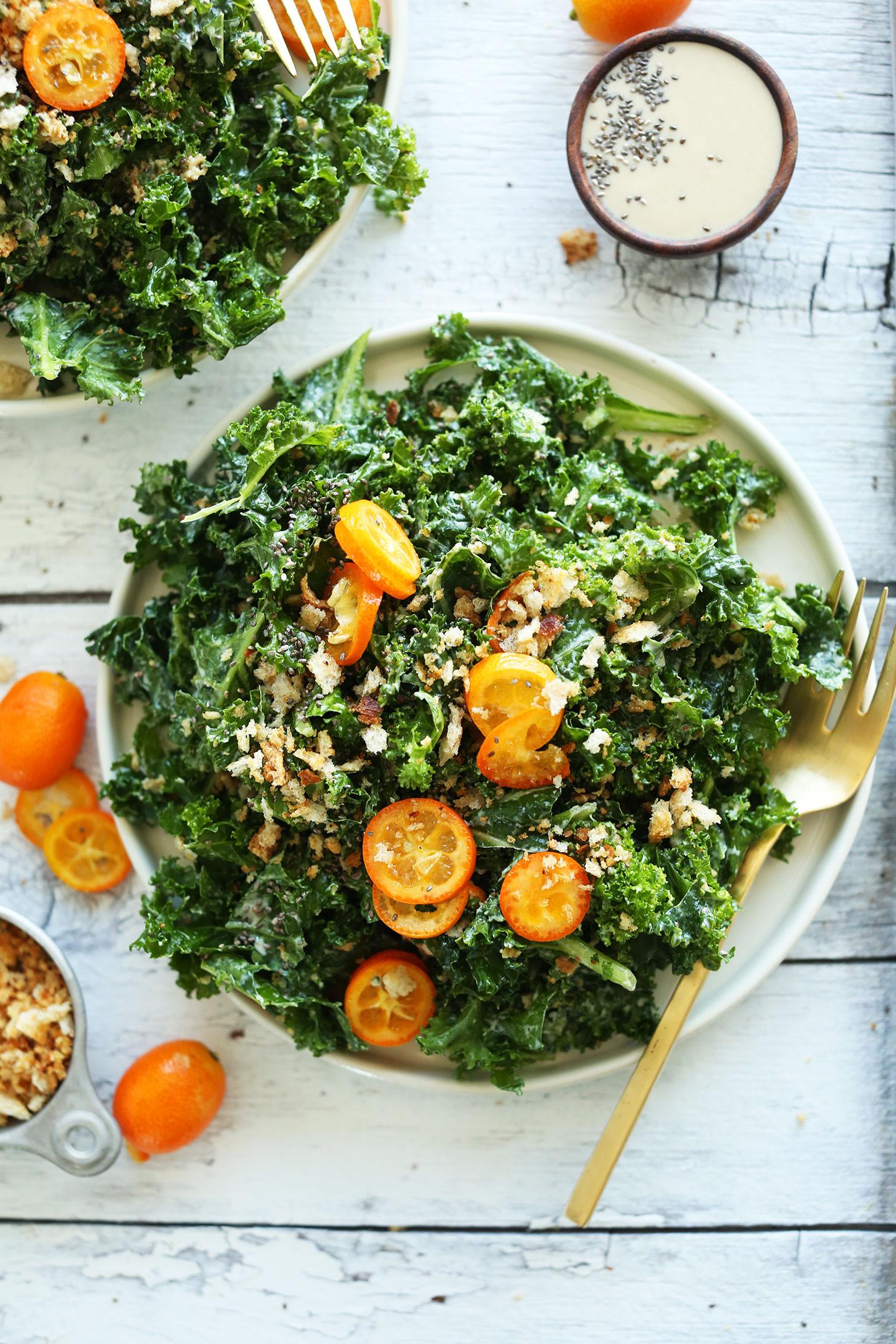 Healthy Vegan Salads  Kumquat Kale Salad