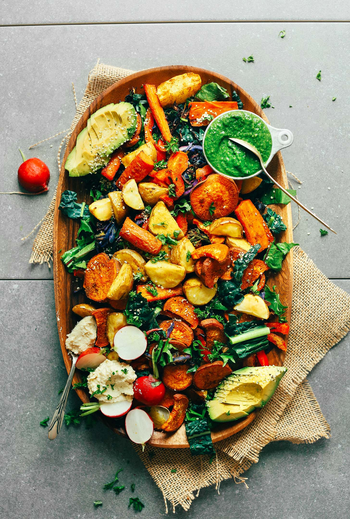 Healthy Vegan Salads  Roasted Ve able Salad with Chimichurri