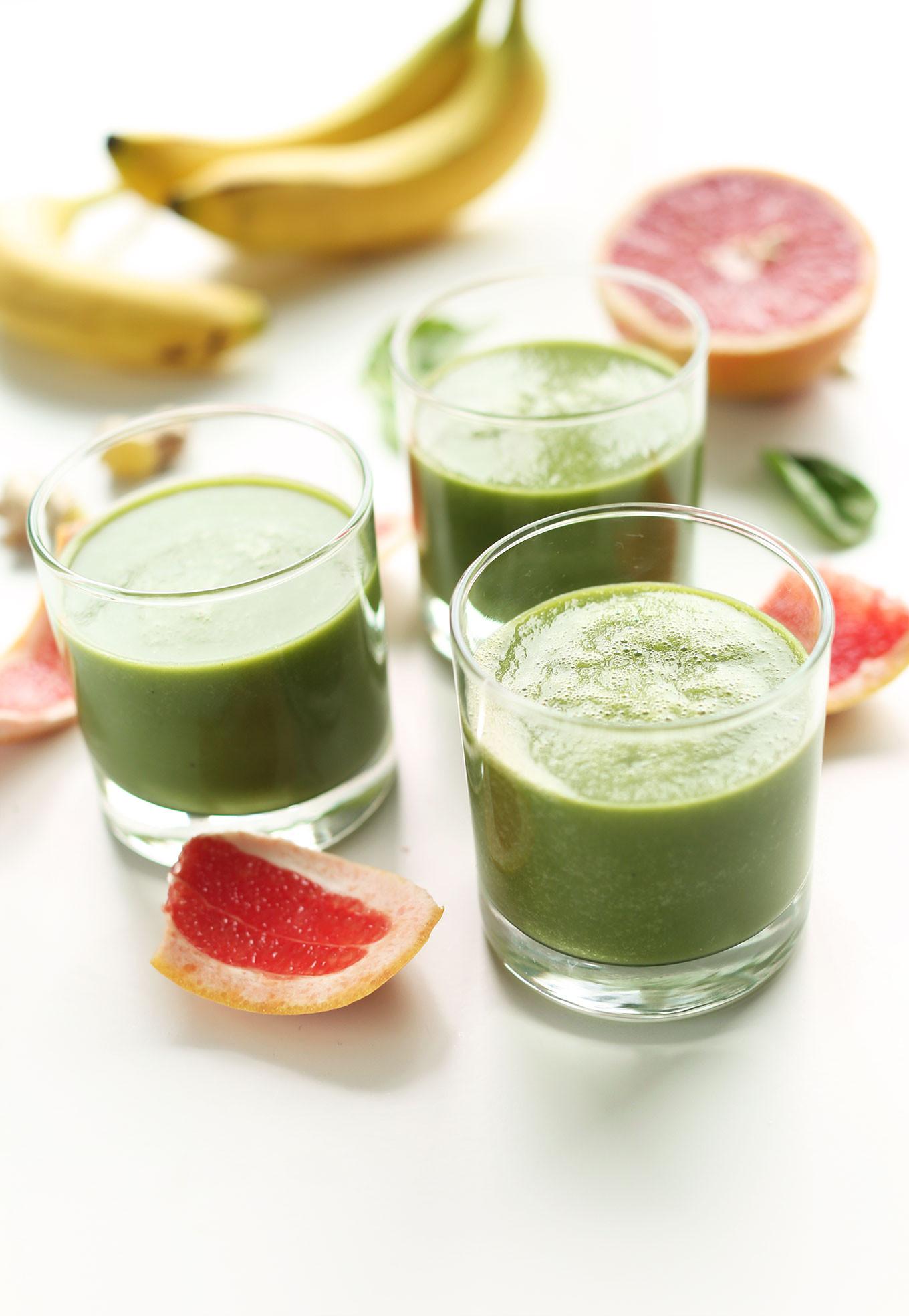 Healthy Vegan Smoothies  6 Ingre nt Grapefruit Green Smoothie vegan glutenfree