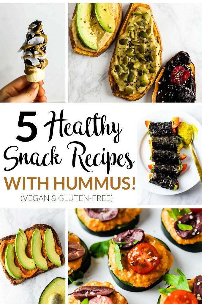 Healthy Vegan Snack Recipes  5 Healthy Snack Recipes with Hummus