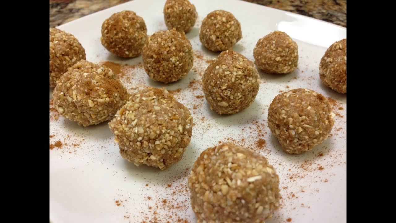 Healthy Vegan Snack Recipes  Cinnamon Maple Protein Balls Recipe HASfit Healthy