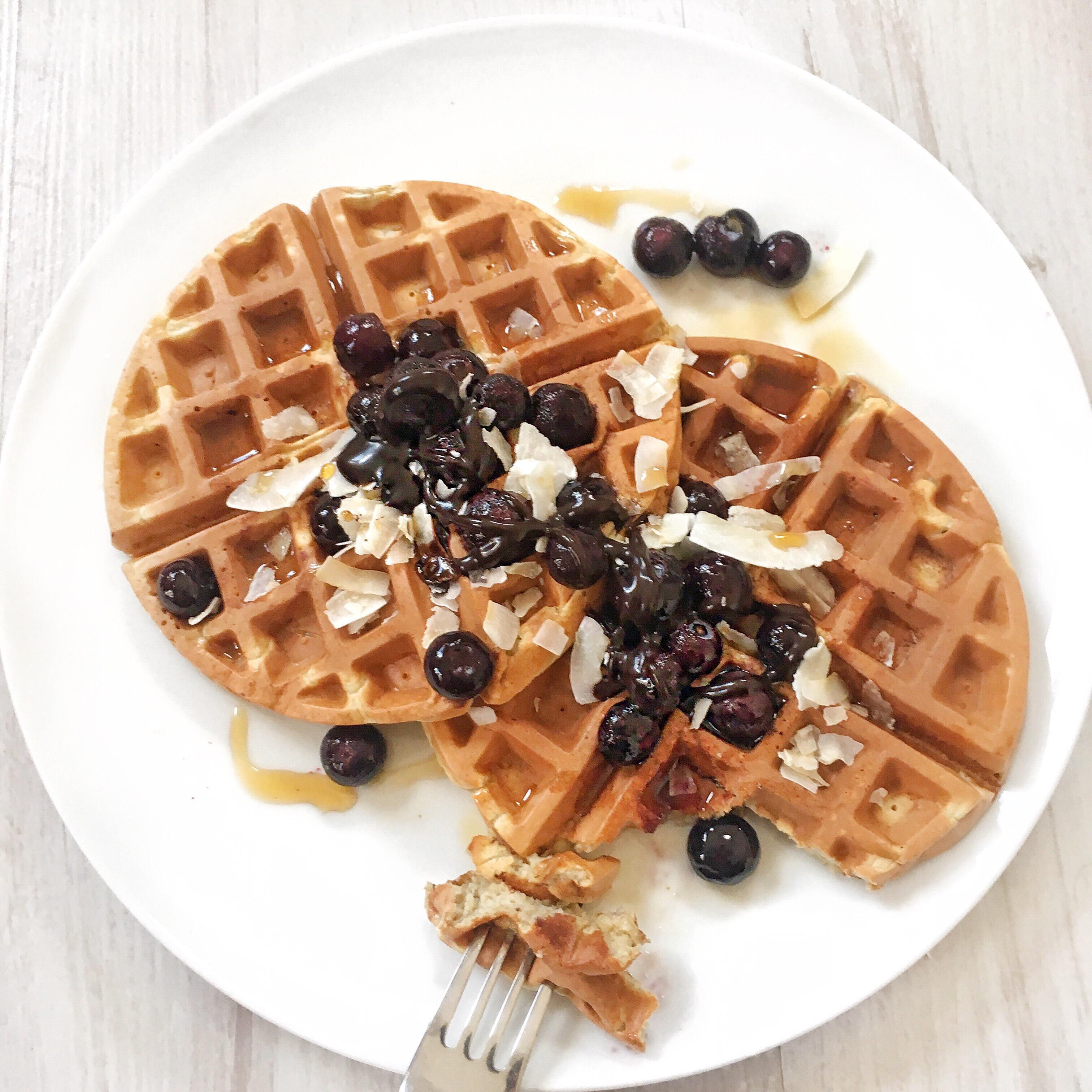 Healthy Vegan Waffles  3 Ingre nt Healthy Vegan Waffles