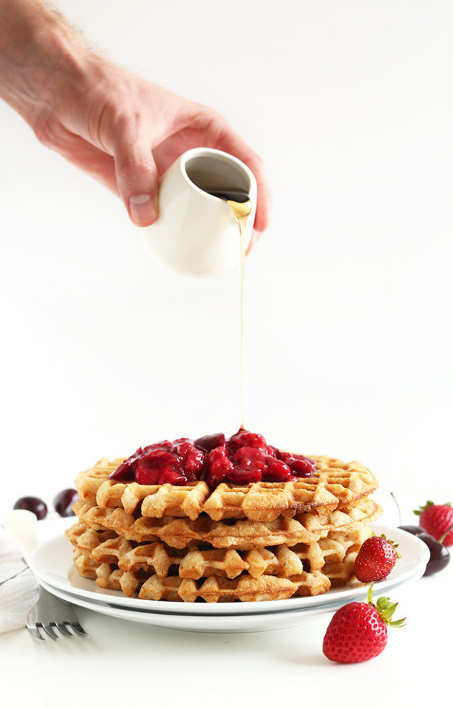 Healthy Vegan Waffles  15 Healthy Waffle Recipes for Waffle Day The Sassy Dietitian