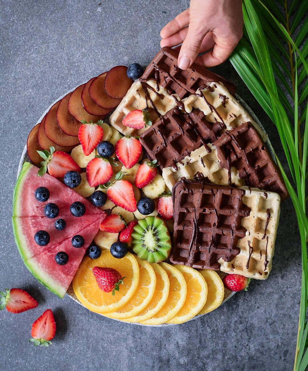 Healthy Vegan Waffles  Vegan gluten free waffles