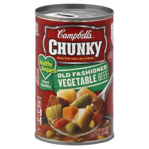Healthy Vegetable Beef Soup  Campbell s Chunky Healthy Request Soup Old Fashioned