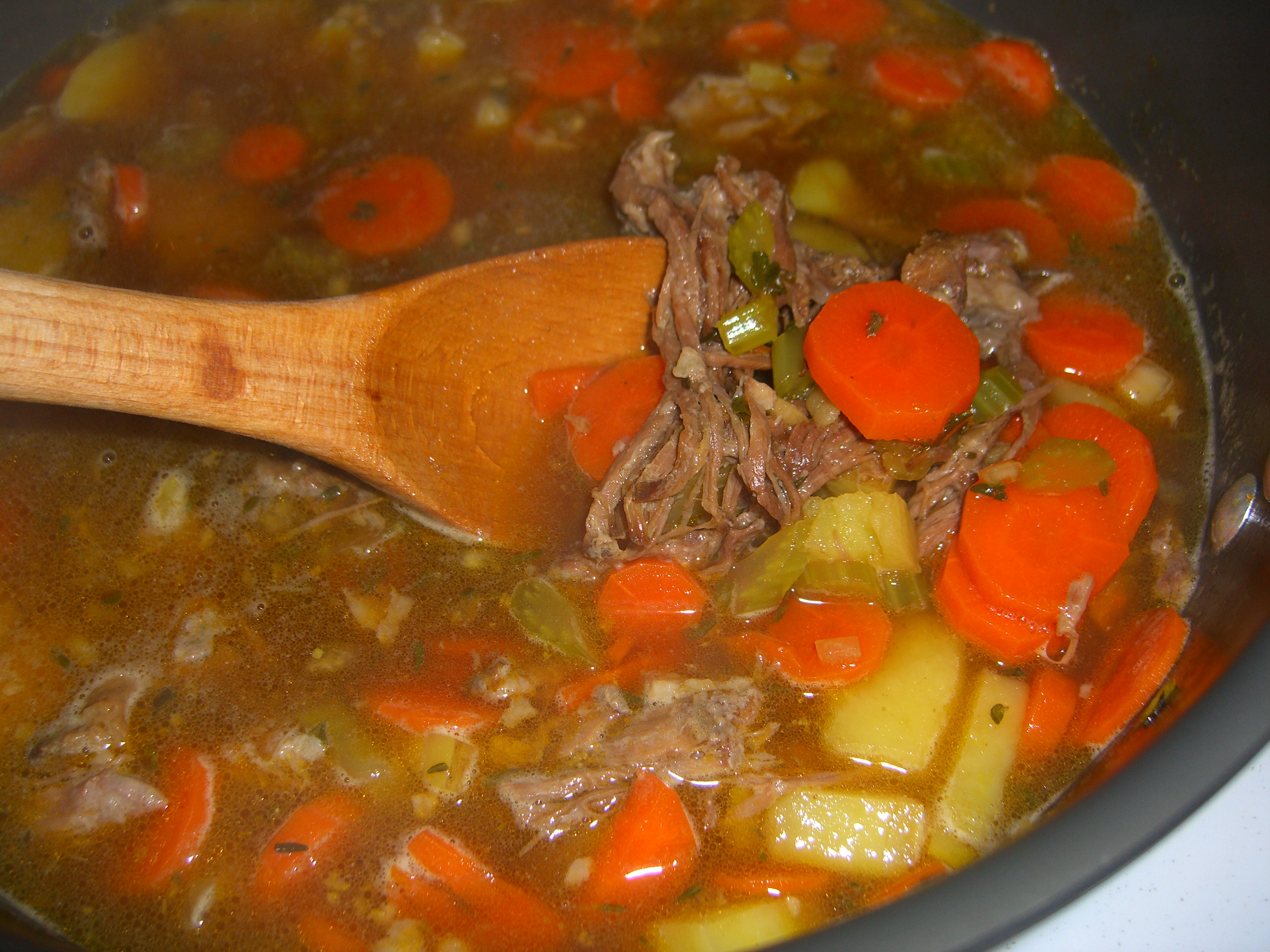 Healthy Vegetable Beef Soup  healthy ve able beef soup recipe