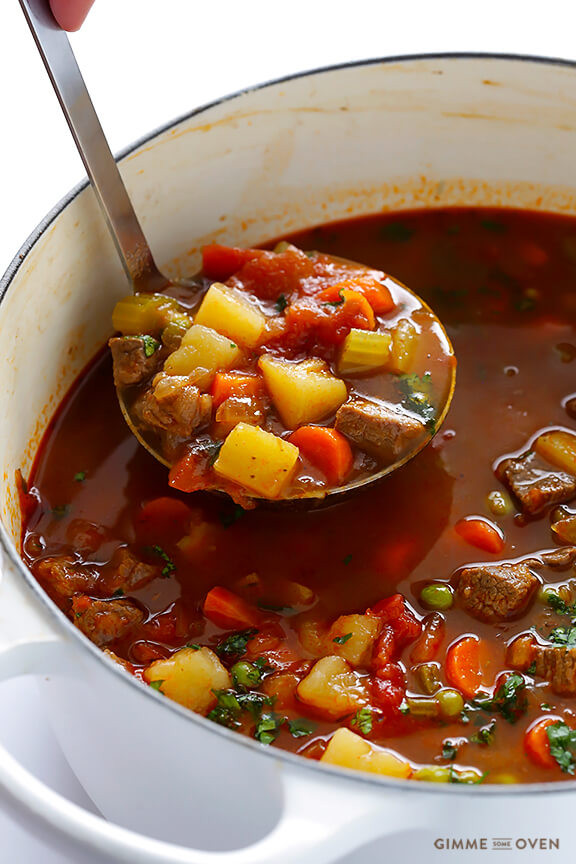 Healthy Vegetable Beef Soup  100 Easy & Healthy Slow Cooker Recipes for Winter
