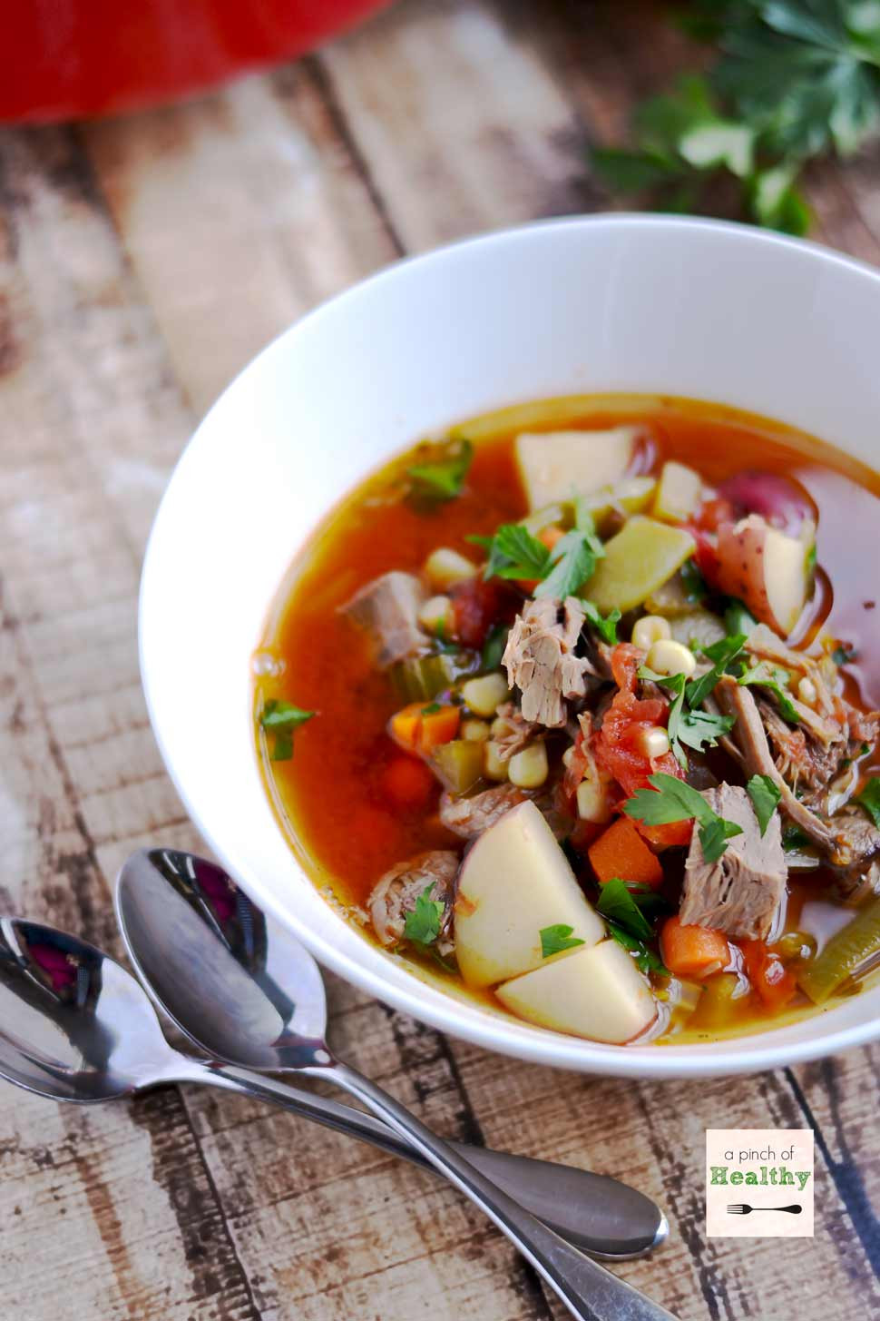 Healthy Vegetable Beef Soup  Ve able Beef Soup A Pinch of Healthy