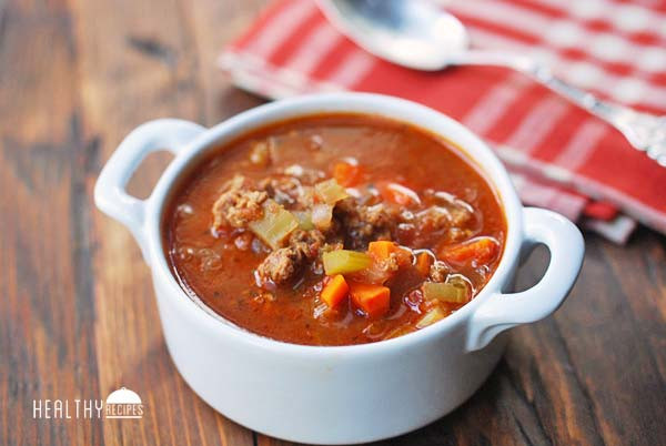 Healthy Vegetable Beef Soup  Ve able Beef Soup Hearty & Filling