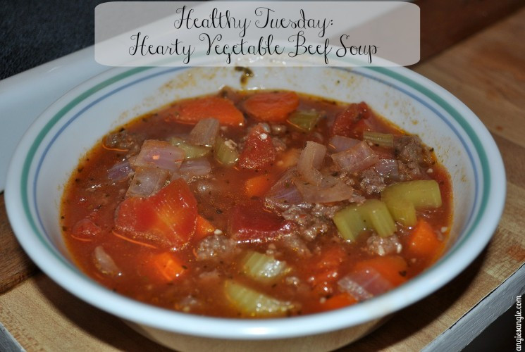 Healthy Vegetable Beef Soup  Healthy Tuesday Hearty Ve able Beef Soup ⋆ Angie s Angle