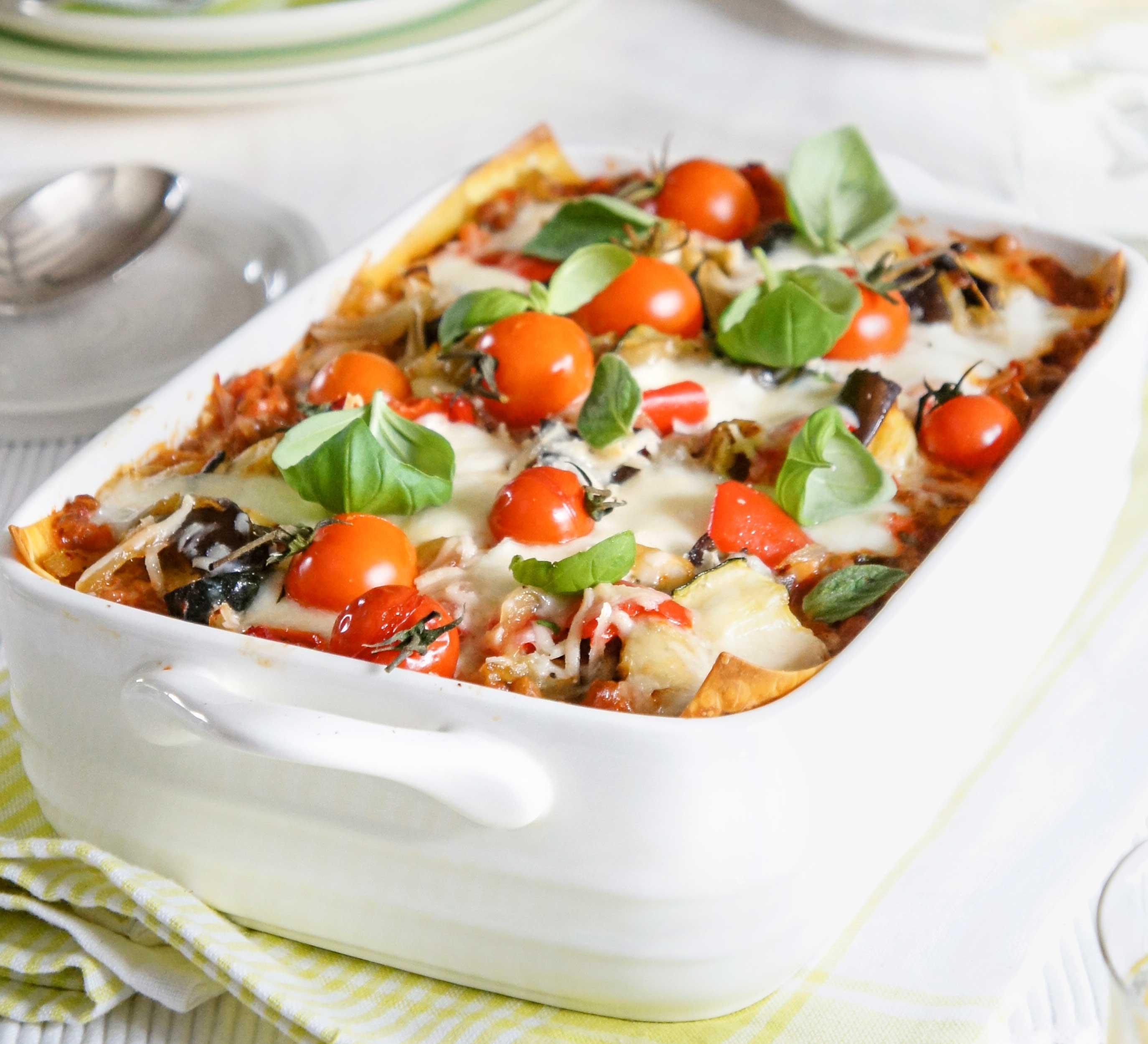 Healthy Vegetable Lasagna  Lighter ve able lasagne recipe