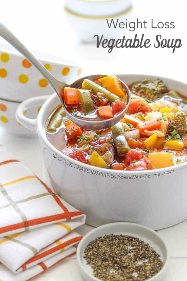 Healthy Vegetable Recipes For Weight Loss  Weight Loss Ve able Soup Recipe Spend With Pennies
