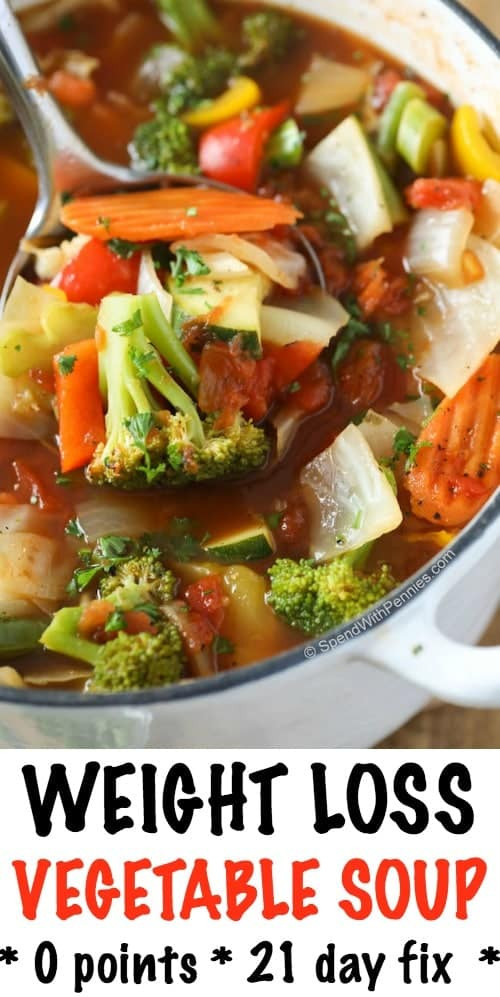 Healthy Vegetable Recipes For Weight Loss  Weight Loss Ve able Soup w Amazing Flavor Spend