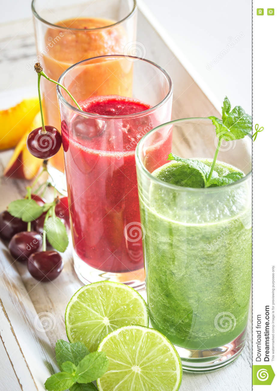 Healthy Vegetable Smoothies  Healthy Fruit And Ve able Smoothies Royalty Free Stock