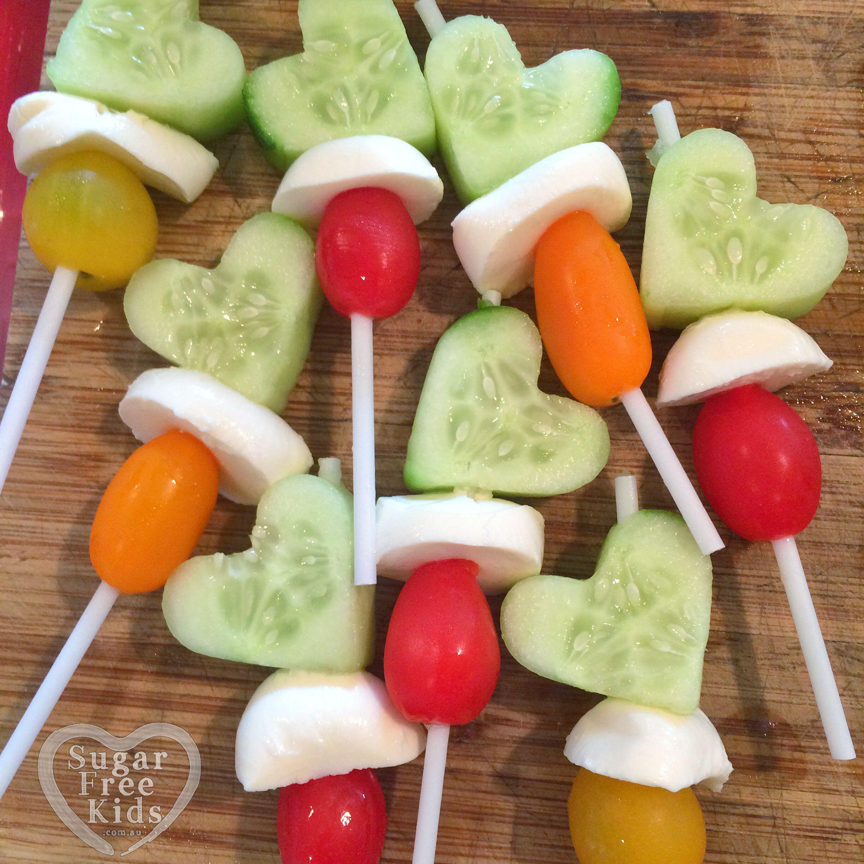 Healthy Vegetable Snacks  Healthy party idea Ve able magic wands Lollipop sticks
