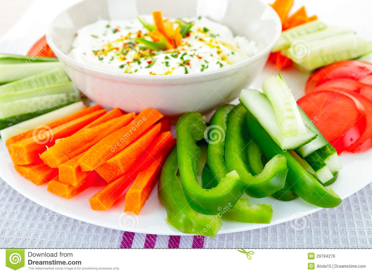 Healthy Vegetable Snacks  Dip And Ve ables Royalty Free Stock Image Image