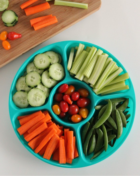 Healthy Vegetable Snacks  Make healthy snacks easier with a ve able tray