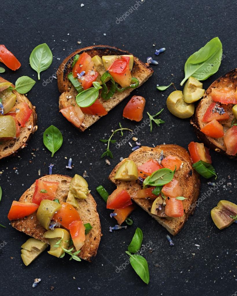 Healthy Vegetarian Appetizers  Gesunde Ve arische Vorspeisen — Stockfoto © andyriver