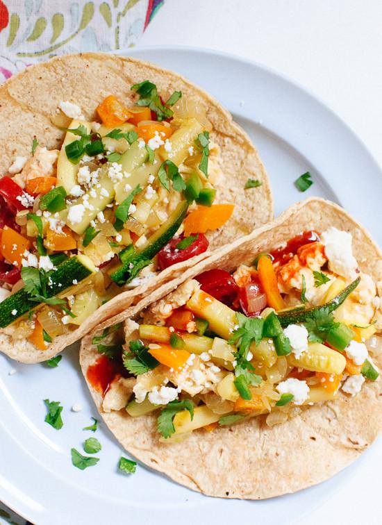 Healthy Vegetarian Breakfast  Veggie Breakfast Tacos Cookie and Kate