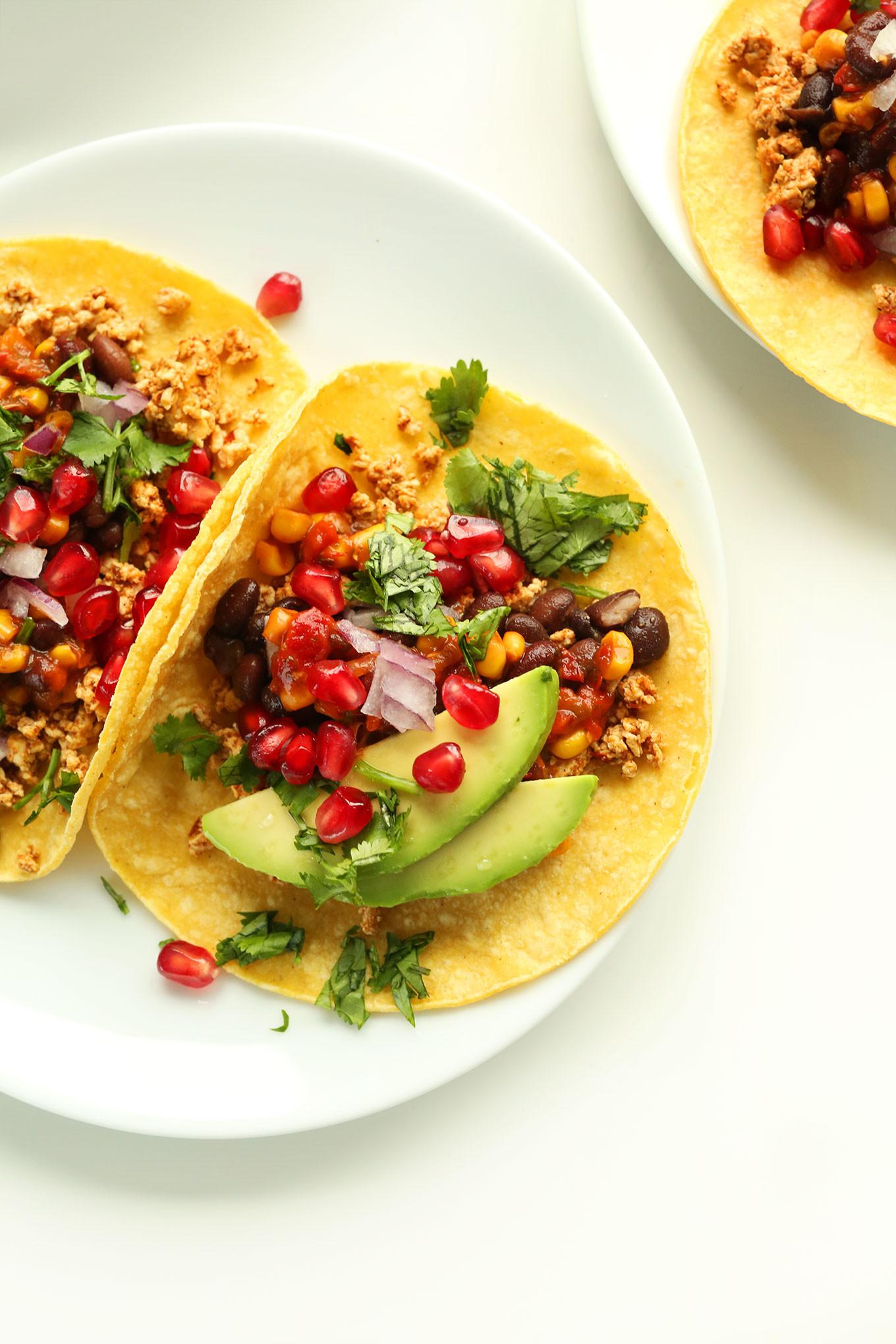 Healthy Vegetarian Breakfast  Vegan Breakfast Tacos
