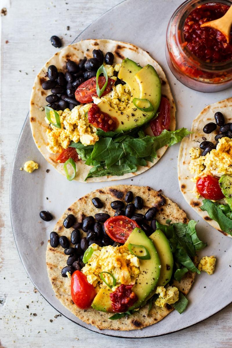Healthy Vegetarian Breakfast  Vegan breakfast tacos Lazy Cat Kitchen