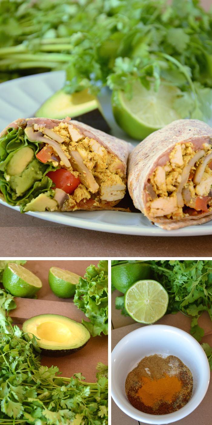 Healthy Vegetarian Breakfast  Pressed Breakfast Burritos Recipe — Dishmaps