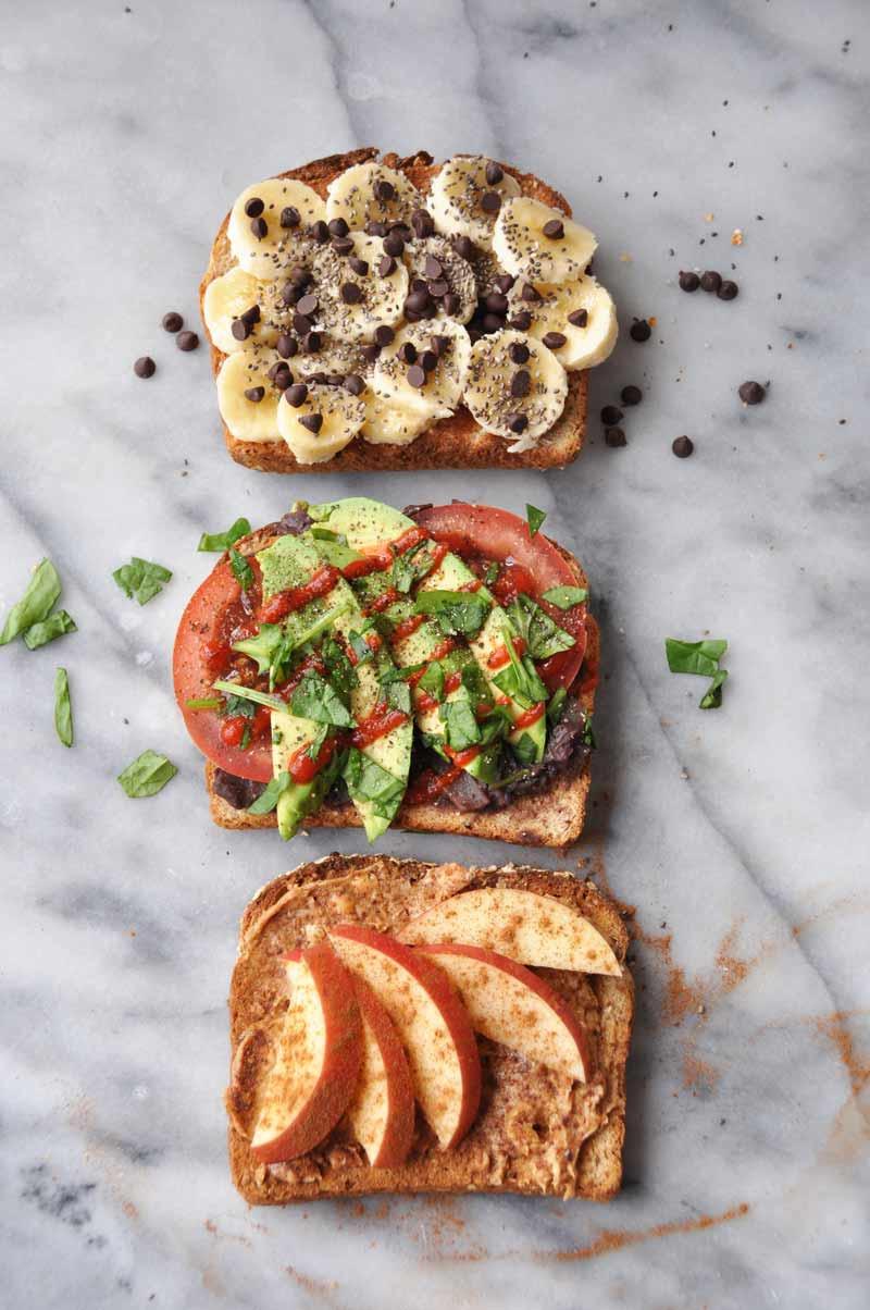 Healthy Vegetarian Breakfast  Simple Healthy Vegan Breakfast Toast that isn t Boring