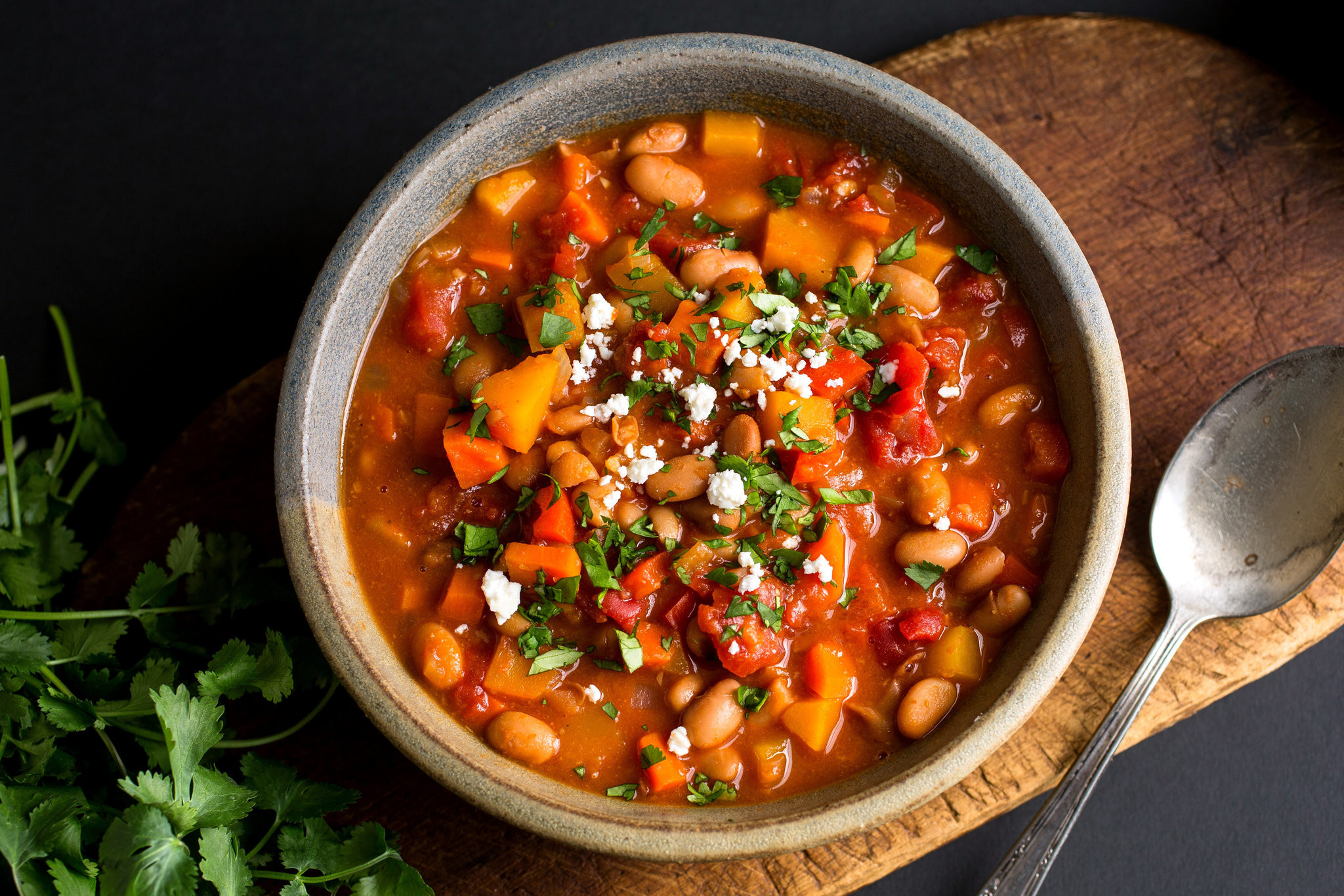 Healthy Vegetarian Chili  Ve arian Chili With Winter Ve ables Recipe NYT Cooking