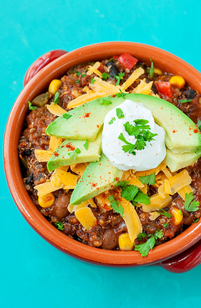 Healthy Vegetarian Chili Recipe  Healthy Ve arian Quinoa Chili