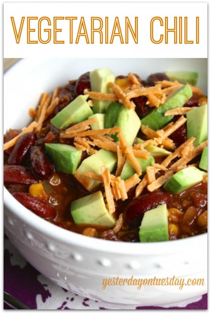 Healthy Vegetarian Chili Recipe  Ve arian Chili Recipe