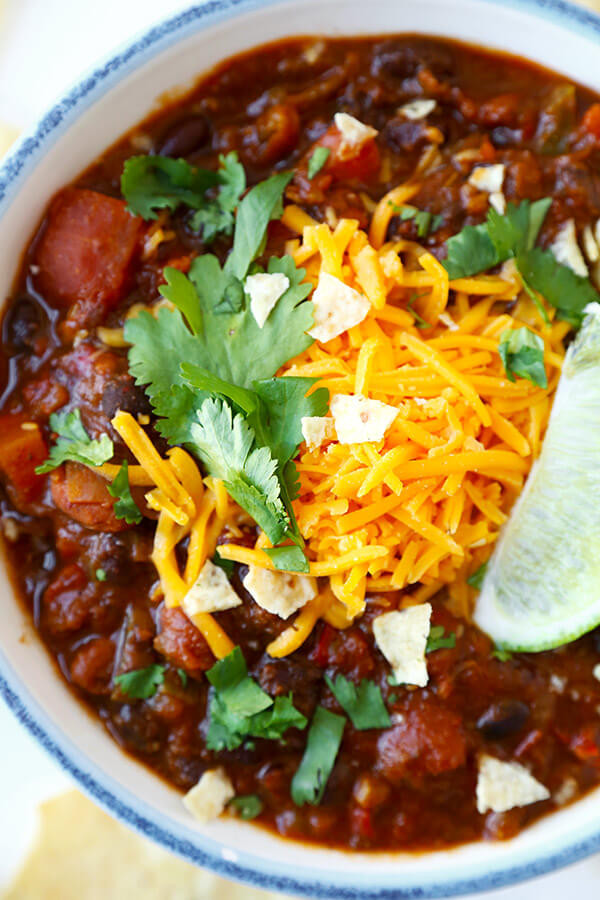 Healthy Vegetarian Chili Recipe  Ve arian Chili Recipe My Favorite Pickled Plum Food