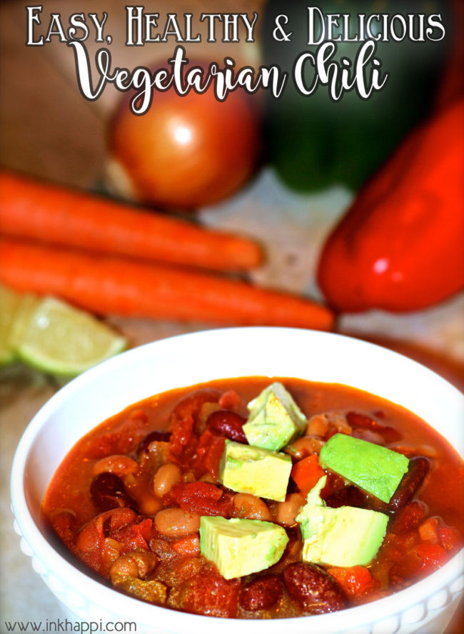 Healthy Vegetarian Chili  Ve arian Chili Easy Healthy and Delicious inkhappi