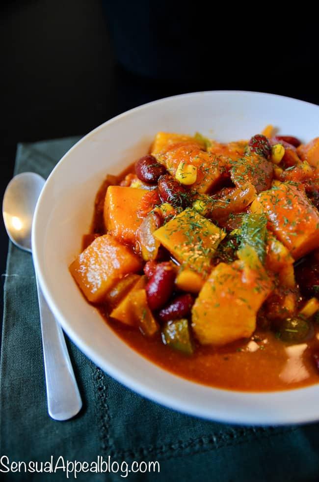 Healthy Vegetarian Crock Pot Recipes  Vegan Butternut Chili Healthy Crock Pot Recipe Sensual