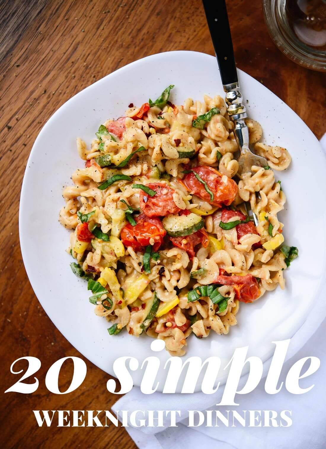 Healthy Vegetarian Dinner  20 Simple Ve arian Dinner Recipes Cookie and Kate