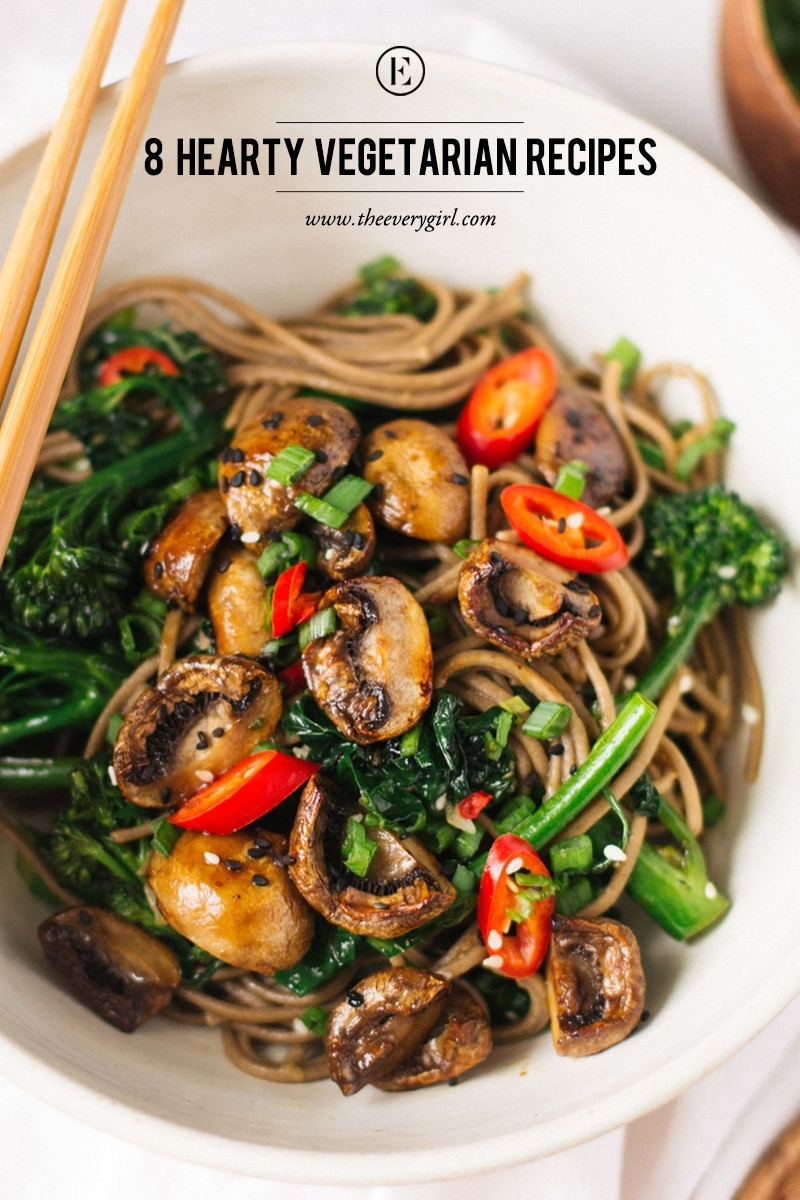Healthy Vegetarian Dinner Ideas  8 Hearty Ve arian Recipes for Meatless Monday