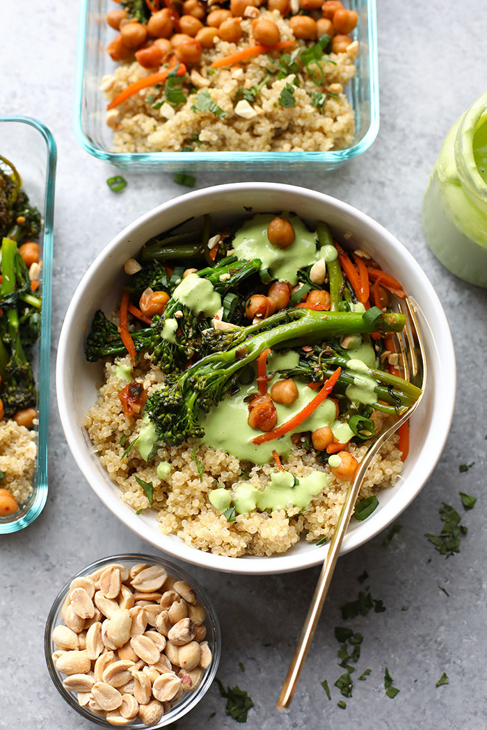 Healthy Vegetarian Dinner Recipes  Meal Prep Ve arian Kung Pao Quinoa Bowls 5 more bowl
