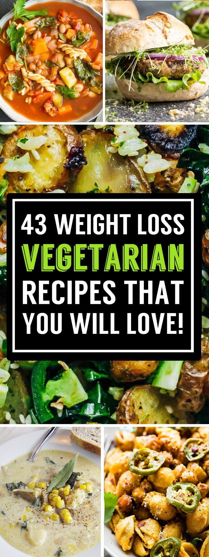 Healthy Vegetarian Dinner Recipes For Weight Loss  The 25 best Healthy ve arian recipes ideas on Pinterest