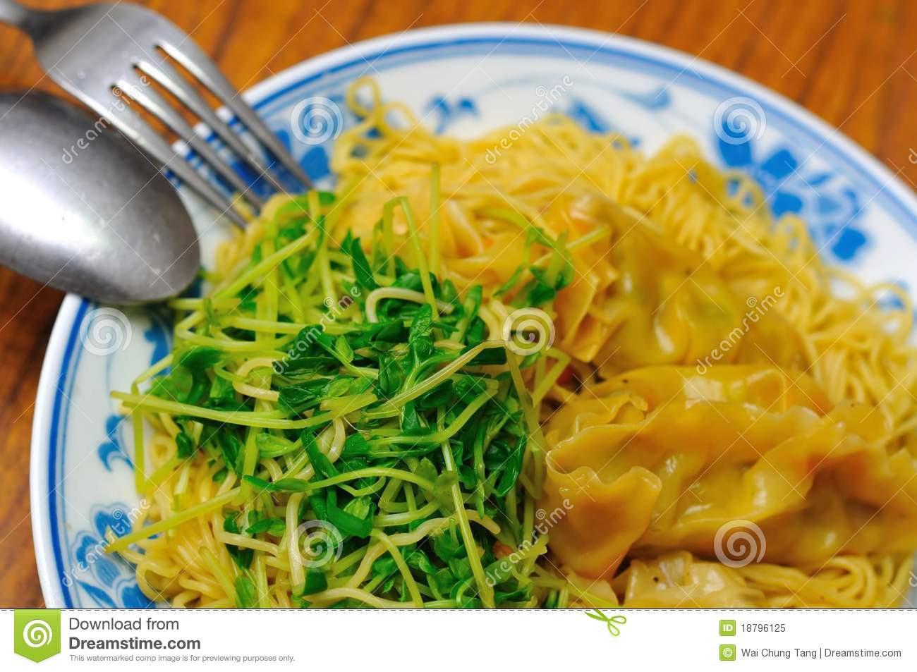 Healthy Vegetarian Dumplings  Healthy Ve arian Dumpling Noodles Royalty Free Stock