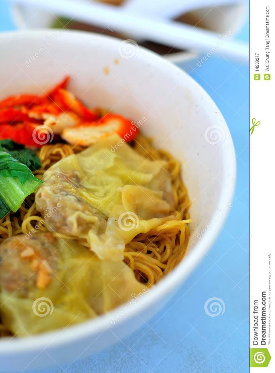 Healthy Vegetarian Dumplings  Asian Pork Dumpling Noodles Royalty Free Stock graphy