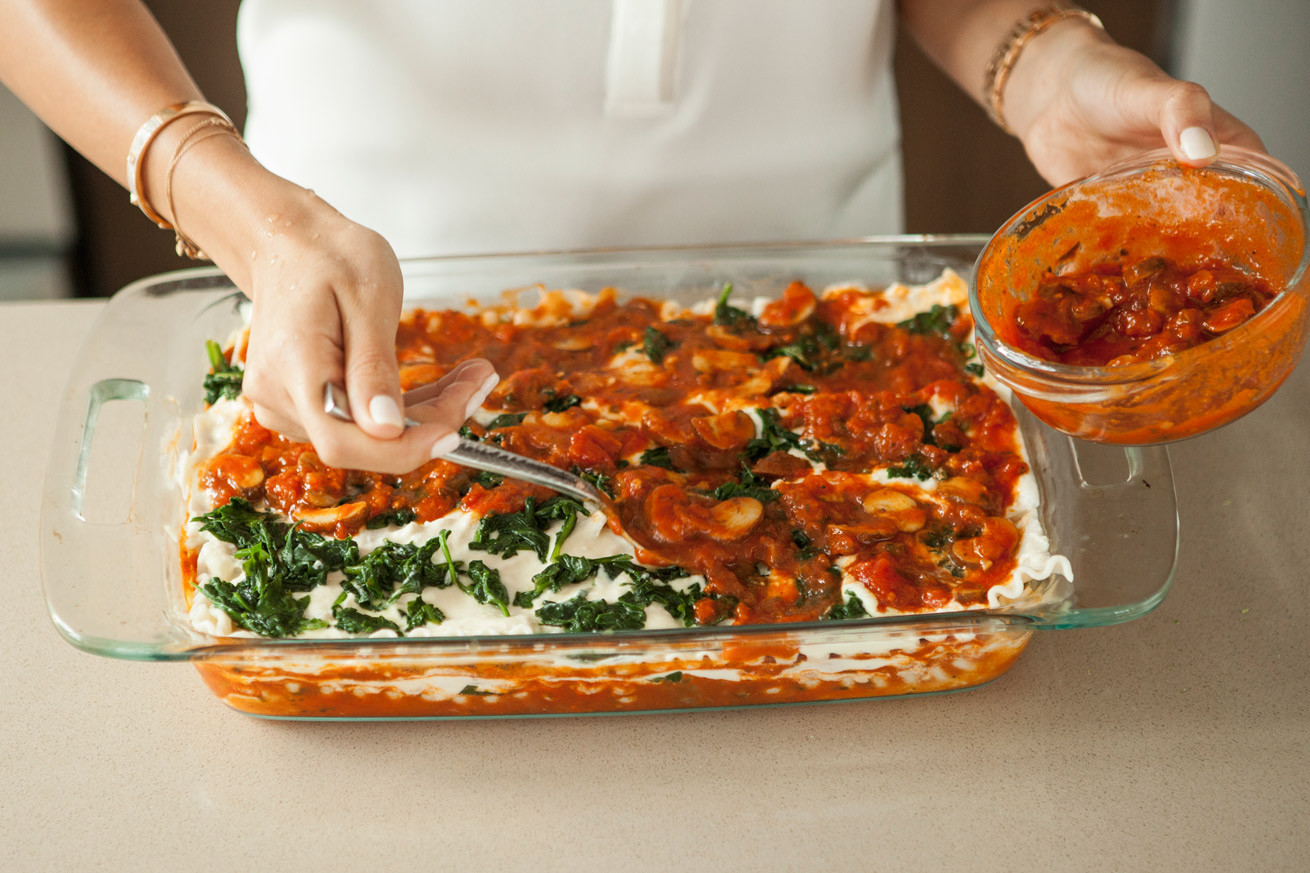 Healthy Vegetarian Lasagna Recipe  healthy ve arian lasagna spinach