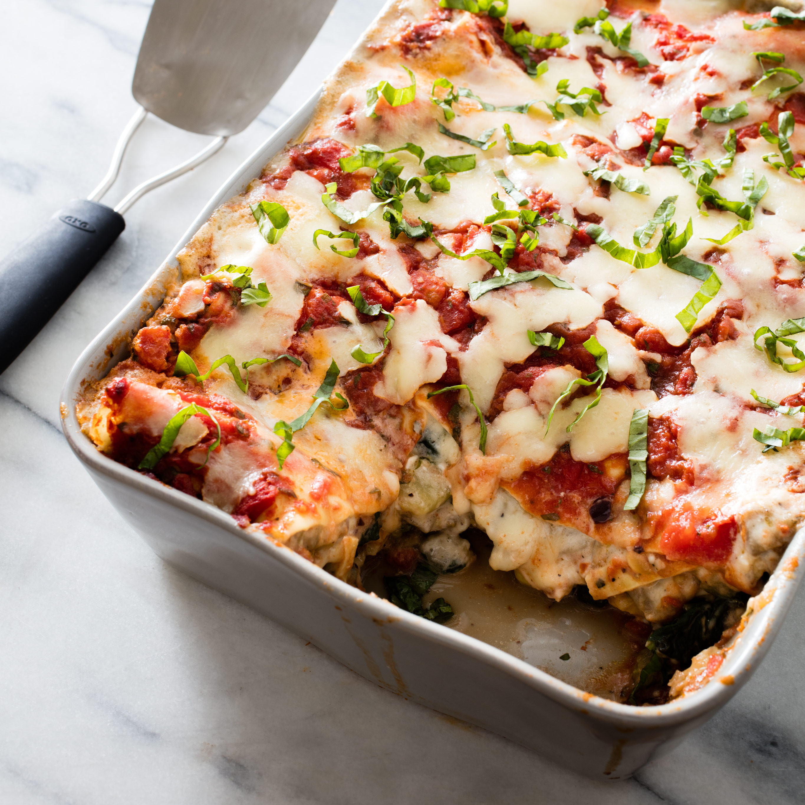 Healthy Vegetarian Lasagna Recipe  Ve able Lasagna