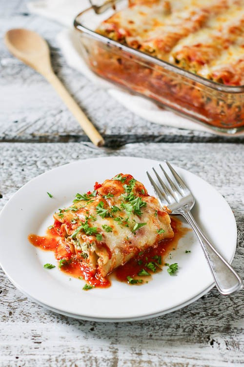 Healthy Vegetarian Lasagna  Healthy Ve arian Lasagna Rolls Chelsea s Healthy Kitchen