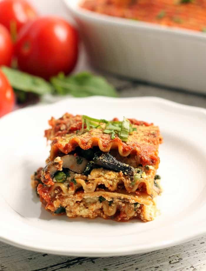 Healthy Vegetarian Lasagna  The Best Easy Vegan Lasagna