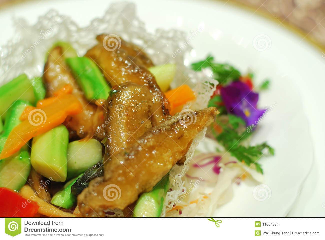 Healthy Vegetarian Main Dishes  Healthy Chinese Ve arian Main Dish Stock Image