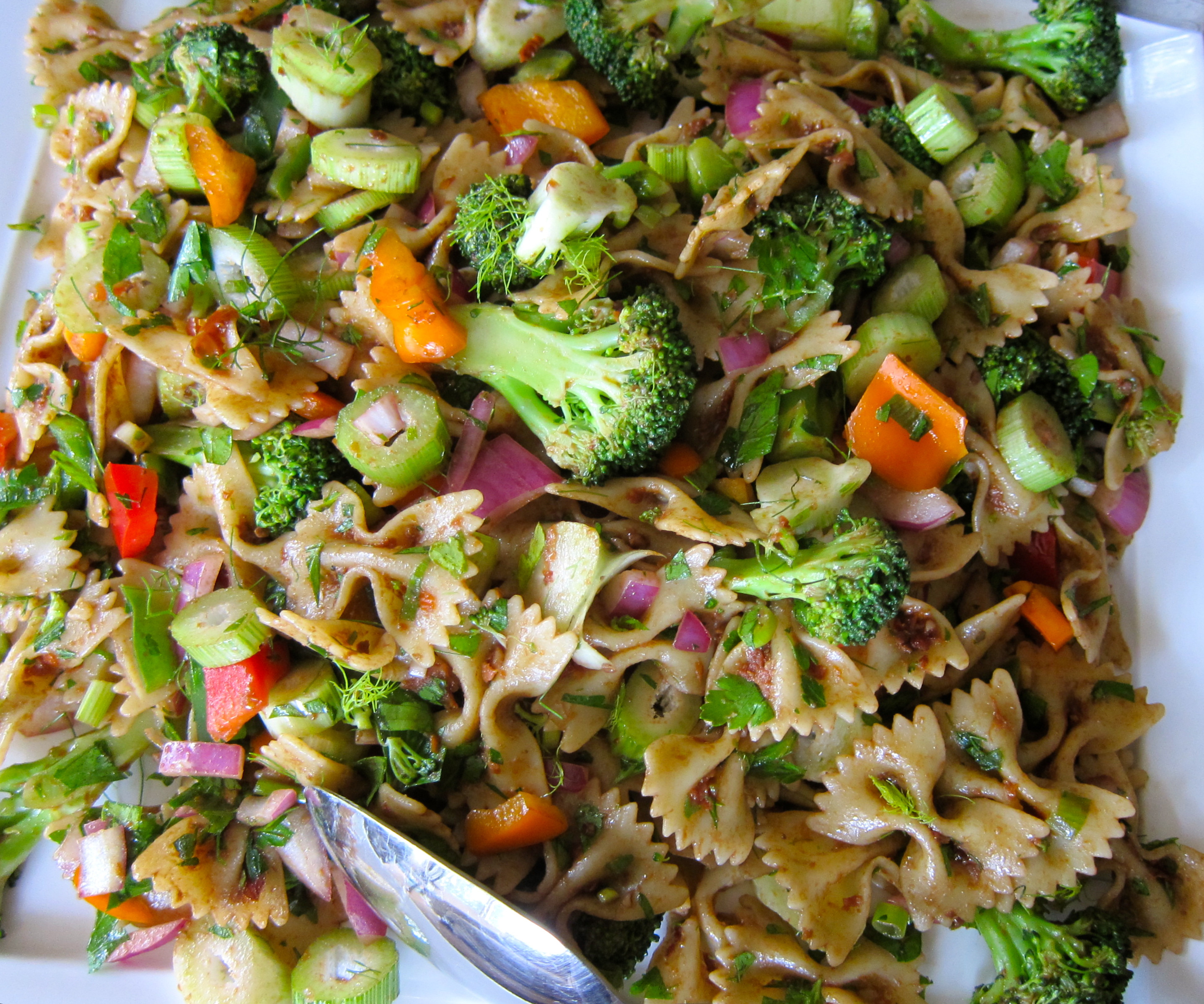 Healthy Vegetarian Pasta Recipes  Bow Tie Pasta with Sun Dried Tomato Dressing